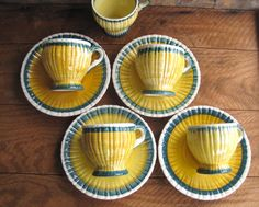 Vintage 1930s Stangl Pottery Demitasse Cups and by corrnucopia, $50.00