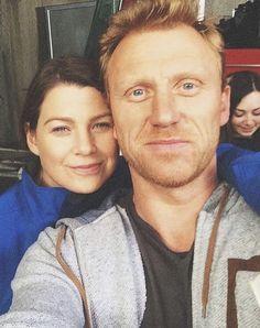 Ellen and Kevin Greys Anatomy Characters, Greys Anatomy Cast, Kevin Mckidd, Owen Hunt, Meredith Grey, Behind The Scenes, Bae, Actresses, Actors