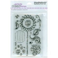"""Sun300 Stampendous Perfectly Clear Stamps 4""""X6"""" Sheet 4X6-SSC-185 - Stamps"""
