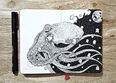 Kerby Rosanes, the doodle master from the Phillipines, is back with new amazingly detailed drawings. Though we wrote about him a few months ago, he didn't waste any time creating more extraordinary pieces, which he insists on calling doodles.