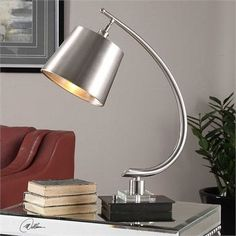 Uttermost Azzanello Brushed Nickel Lamp
