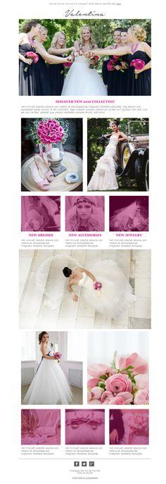 Si trabajas en el sector de los vestidos de boda y accesorios, esta es tu oportunidad para usar las plantillas newsletter de Mailify y mostrar el catálogo de tus prendas a todo el mundo.