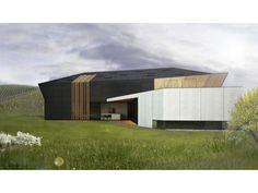 Fertighaus modern satteldach  Avantgarde 03 - #Einfamilienhaus von BlackLine | HausXXL ...