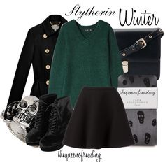 Designer Clothes, Shoes & Bags for Women New Outfits, Trendy Outfits, Winter Outfits, Cute Outfits, Fashion Outfits, Slytherin Clothes, Harry Potter Outfits, Aesthetic Clothes, Neil Barrett