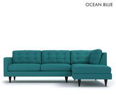 The Logan 2Pc Sectional Sofa From Kyle Schuneman CHOICE OF FABRICS