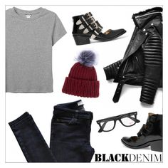 """""""Denim Trend: Black Jeans"""" by danielle-487 ❤ liked on Polyvore featuring Monki, Vanessa Bruno Athé, Toga, Eugenia Kim, Ray-Ban, women's clothing, women's fashion, women, female and woman"""