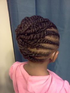 Protective style. Kid hairstyles are the best.
