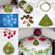 The Perfect DIY Knitted Christmas Tree with Ornaments - http://theperfectdiy.com/the-perfect-diy-knitted-christmas-tree-with-ornaments/ #Christmasidea, #Christmastree, #DIY, #DIYCrafts, #Festivalidea, #freepattern, #gift, #Giftidea, #homedecorate, #HomeIdeaGardening, #howto, #wonderfulDIY