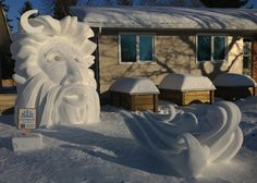 Wind Chill is a snow sculpture done by Team Snow Art in Saskatoon, SK.