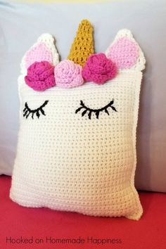 Unicorn Pillow Friend Crochet Pattern 0913ddaf4a88