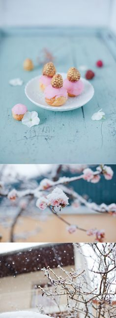 Golden raspberries petit fours by Griottes