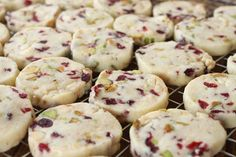 Cranberry Pistachio White Chocolate Shortbread (really, when I pin stuff, I just want someone to make it for me to consume...)