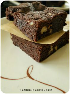 Fudgy Vegan Gluten-free Brownies