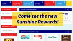 Sunshine Rewards has a new look including now being accessible via your mobile devices. New Shop, Sunshine, News, Check