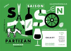 Partizan Brewing labels designed by Alec Doherty.