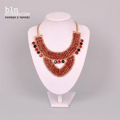 Стильне червоне кольє в магазинах BLN accessories . Stylish red necklace in stores BLN accessories.