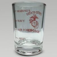 Marines Graduated Shot Glass (Item #9035-M)