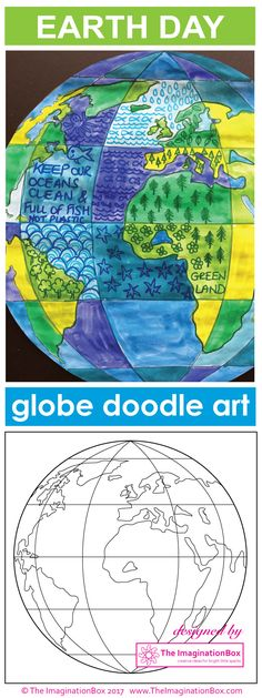 awesome Celebrate Earth Day and bring creativity and color to your classroom with this globe doodle art and poster resource. The globe art activity . Earth Day Projects, Earth Day Crafts, Art Projects, Earth Day Activities, Art Activities, Earth Day Images, Earth Day Coloring Pages, Earth Day Posters, Globe Art