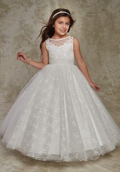 Cupids by Mary's F538 Ivory Flower Girl Dress