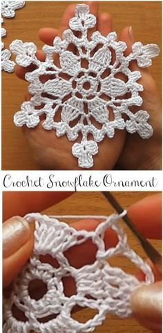 Crochet Motif Snowflakes for Christmas - Loading. I hope you have enjoyed this beautiful crochet, the free pattern is HERE so you can make a beautiful crochet. Crochet Snowflake Pattern, Christmas Crochet Patterns, Crochet Christmas Ornaments, Crochet Stars, Crochet Motifs, Crochet Snowflakes, Holiday Crochet, Snowflake Ornaments, Christmas Knitting