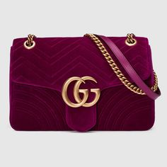 Gucci Women - GG Marmont velvet shoulder bag - 443496K4D2T5671