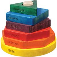 Colored Shape Stacker - $23.95