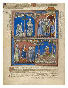 Samuel's Grief; Samuel Arrives in Bethlehem; David, a New Hope | Fol. 25v | The Morgan Library & Museum