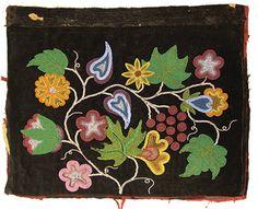 iroquois floral beadwork | Lot 657: Iroquois Beaded Panel