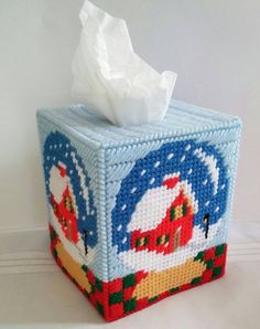 Check out this item in my Etsy shop https://www.etsy.com/listing/258325974/christmas-snow-glove-tissue-box-cover