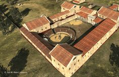 Huge Gladiator School Found Buried in Austria; Archaeologists working outside Vienna, Austria, have discovered the remains of a huge school for ancient Roman gladiators—a complex so extensive that it rivals the training grounds outside Rome's Colosseum. Ancient Rome, Ancient History, Roman Latin, Roman Gladiators, Monuments, Rome Antique, Antique House, Roman Republic, Roman Architecture