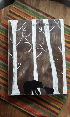 Hey, I found this really awesome Etsy listing at https://www.etsy.com/listing/236239633/rustic-bear-painting-hand-painted-bear