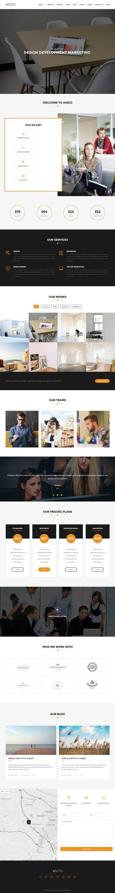 ANZIO – Onepage Parallax WordPress Theme #css3 #html5 #responsivedesign #uidesign #userexperience #wordpressthemes