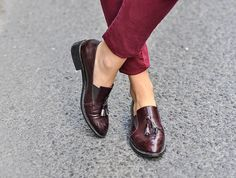 oxblood tassel loafers | maritsa