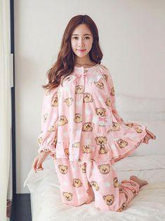 made in korea 东大门自制睡衣批发品牌网店 Night Suit For Women, Pakistani Dresses Casual, Girls Sleepwear, Korean Fashion Trends, Dress Sewing Patterns, Korean Outfits, Pajamas Women, Baby Dress, Sleep Dress