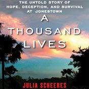 I finished listening to A Thousand Lives: The Untold Story of Hope, Deception, and Survival at Jonestown (Unabridged) by Julia Scheeres, narrated by Robin Miles on my Audible app.  Try Audible and get it free.