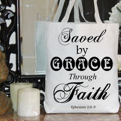 Digital Collage Sheet Saved by Grace Bible Quote Bird Ephesians 2 verses 8 and 9 Burlap Digital Download Transfer Pillow Tote Tea Towel 2091. $1.00, via Etsy.