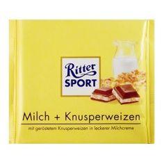 Ritter Sport Chocolate, Milk & Wheat Puffs, 250g
