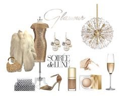 Gold & Glamour by valariehurst-1 on Polyvore featuring Badgley Mischka, Clara Kasavina, Burberry, NARS Cosmetics, Dolce&Gabbana, Kate Spade, Purva Designs, Rogaska and Bebe