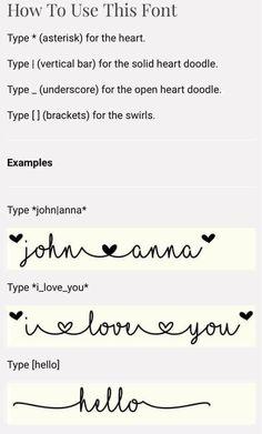 MF I love glitter font commands - wedding decoration Cricut Air 2, Cricut Vinyl, Cricut Craft, Silhouette Fonts, Silhouette Cameo Projects, Vinyl Crafts, Vinyl Projects, Paper Crafts, Heart Doodle