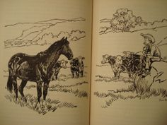 Ghost Town Cowboy by Genevieve Torrey Eames, il by Paul Brown horse book old