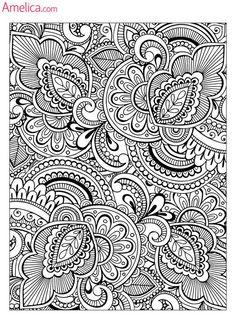 Арт терапия раскраски скачать бесплатно, картинки раскраски - антистресс распечатать: узоры и цветы: