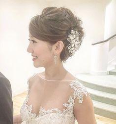 イマドキ愛され花嫁に変身!ヘアスタイル大特集【シーン別】 | 結婚式準備はウェディングニュース Wedding Hairstyles For Long Hair, Bride Hairstyles, Hair Arrange, Hair Setting, Wedding Images, Hair Dos, Bridal Style, Bridal Hair, Wedding Inspiration