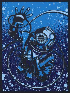 The Challenger Deep art print by RyanLynnDesign on Etsy