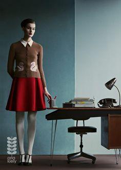 Kirsi Pyrhonen @ Orla Kiely Fall Winter 2013/2014 campaign by Julia Hetta