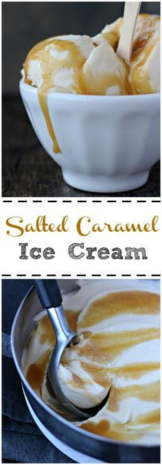 This salted caramel ice cream recipe is to die for. A rich caramel layer that melts in your mouth, distracted by a subtle note of sea salt, washed by a creamy wave of sweet caramel ice cream! gardeninthekitchen.com