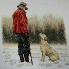 Cross Stitch Kit: Man's Best Friend - by Dimensions, Inc. Cross Stitching, Cross Stitch Embroidery, Cross Stitch Patterns, Mans Best Friend, Best Friends, Dimensions Cross Stitch, Cross Stitch Animals, Counted Cross Stitch Kits, Pet Birds