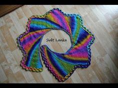 Šátek pletený zkrácenými řadami - YouTube