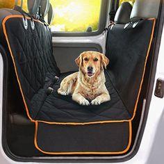 Travel Dog Car Seat Cover Pet SUV Luxury Side Protector Hammock Waterproof Truck #DoggieWorld Pet Car Seat Covers, Dog Car Seats, Dog In Car, Dog Car Seat Belt, Diy Auto, Auto Gif, Dog Car Accessories, Dog Hammock, Pet Travel