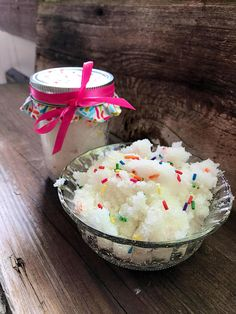 NEW! Who wants birthday cake? Birthday Sugar Scrub (Your choice of size) at Black Willow Soaps on Etsy