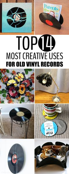 Ways to repurpose your vinyl records into creative and beautiful decorative pieces for your home.